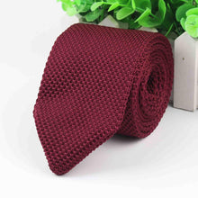 New Style Fashion Men's Solid Colourful Tie Knit Knitted Ties Necktie Narrow Slim Skinny Woven Cravate Narrow Neckties