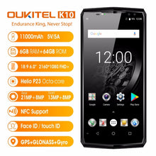 "Original OUKITEL K10 4G Mobile Phones Android 7.0 6GB+64GB Helio P23 Octa Core Smartphone 11000mAh Battery 6.0"" FHD Cell Phone"