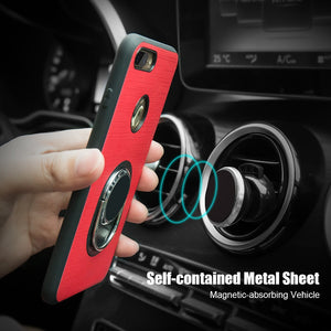 FLOVEME Phone Cases for iPhone 7 6 5s Stand Holder Metal Ring Hop Magnetic Back Cover Mobile Case for iPhone 7 6 6s Plus Capa
