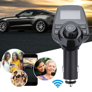 ANLUD Bluetooth Wireless Car Mp3 Player Handsfree Car Kit FM Transmitter A2DP 5V 2.1A USB Charger LCD Display Car FM Modulator