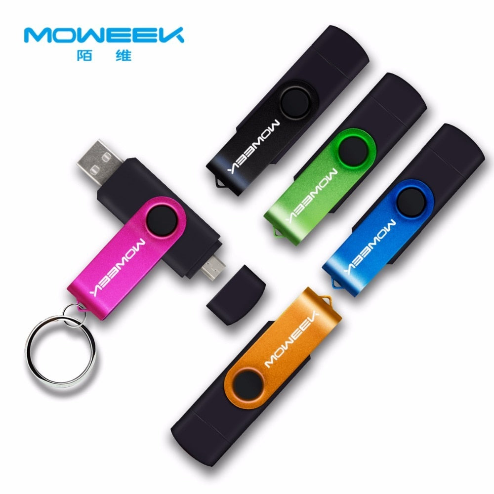 Moweek Multifunctional USB Flash Drive 128gb 64gb cle usb stick 32gb Pendrive 16gb 8gb 4 gb usb 2.0 memory stick  for android