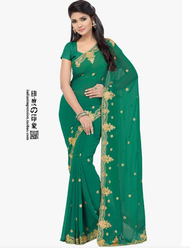 2017 New Fashion classic style Indian Saree Hand embroidery clothes High Quality Sari indian clothing