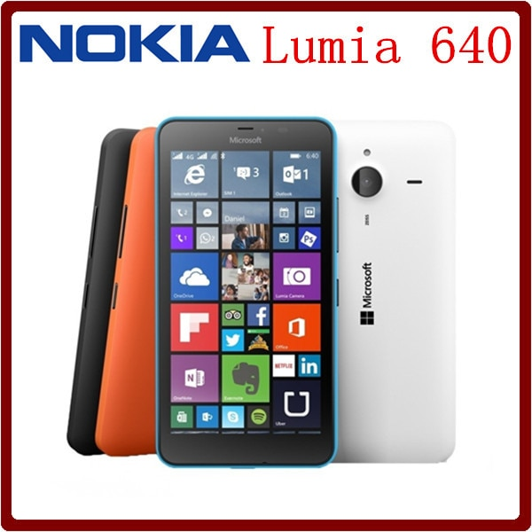 Original Nokia Lumia 640 & Lumia 640XL   single SIM  & Dual SIM 5.0inch 8MP Quad core 8GB ROM 1GB RAM Unlocked Touchscreen Good!