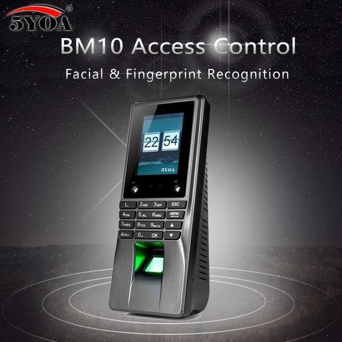 5YOA BM10 Biometric Facial Face Fingerprint Access Control Time Attendance Machine Electric Sensor Code System Door Lock System