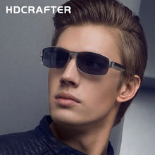 New Fashion High Quality Metal Frame Rectangle Lens Polarized Men Sunglasses Male Driving  Sun Glasses