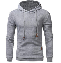 Hoodies Men 2018 Brand Male Long Sleeve Solid Color Lattice Hooded Sweatshirt Mens Hoodie Tracksuit Sweat Coat Casual Sportswear