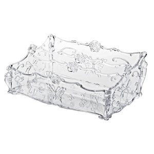 Large Capacity Clear Acrylic Makeup Organizer Vintage Bathroom Cosmetic Storage Box Makeup Display Case