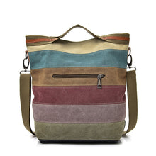 Tinkin Casual Women Canvas Shoulder Bag Simplicity Female Handbag Soft Medium Size Messenger Bag for Teenagers