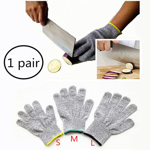 Cut Resistant Gloves Home Kitchen Work Food Contact Safe Work Glove Safety Level 5 Protection Glove