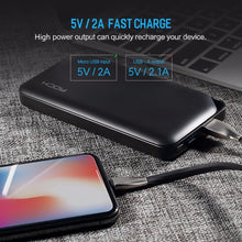 ROCK Power Bank 10000mAh for Xiaomi Portable External Battery Charger Ultra Slim Powerbank for iphone X Samsung Note 8 S8