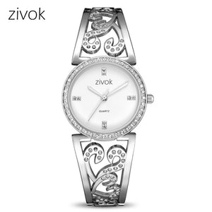 Creative zivok Women Bracelet Watch Fashion Brand Lovers Quartz Wrist Watches Women Clock Relogio Feminino xfcs Reloj Mujer