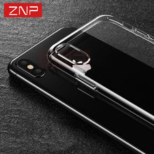 ZNP Ultra Thin Soft Transparent TPU Case For iPhone 8 8 7 Plus 7 Clear Silicone Full Cover For iPhone X Case 6 6S Plus Cases