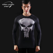 2017New Fashion Fitness Compression Shirt Men Superman Captain America Batman Spiderman Iron Man Crossfit tshirt Gentle Clothing