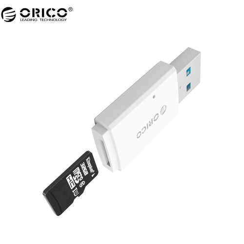 ORICO CRS11 Mini Card Reader Mobile Phone Tablet PC USB 3.0 5Gbps for Micro SD/TF -White
