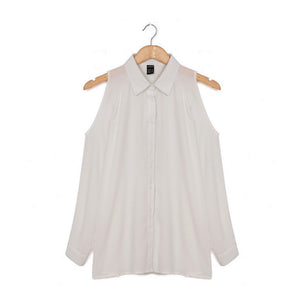 women sweet strapless ruffles chiffon shirts pleated pearls long sleeve loose blouse ladies casual tops