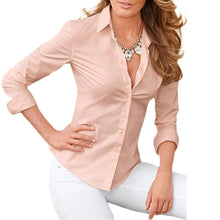 Avodovama M Women Elegant Blouse Long Sleeve OL Chiffon Sexy Shirt Casual Autumn Ladies Top