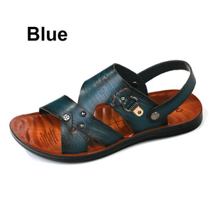 Summer Men Casual Sandals Dual - use  Shoes Fashion Breathable / Soft Male Beach Shoes Super Non-slip Flip Flops Imported