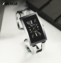 Women Bracelet Watch Rectangle Dial Quartz Watches Crystal Fashion Silver Stainless Steel Relojes Bangle Brand XINHUA Wristwatch