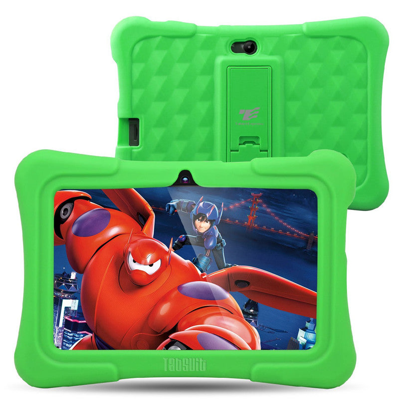 Dragon Touch Y88X Plus 7 inch Green Kids Tablet Quad Core CPU Android 5.1 Lollipop IPS Display Kidoz Pre-Installed