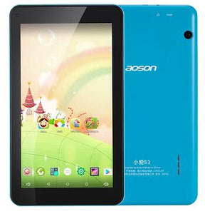 Education tablets AOSON M753 7 inch Colorful android Tablet PC Android 6.0 16GB ROM Quad Core Tablet HD IPS1024*600   Bluetooth