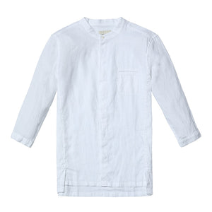 SIMWOOD 2018 Summer New Casual Shirts Men Breathable 100% Pure Linen Fashiom  Three Quarter Slim Fit Brand Clothing CS1587