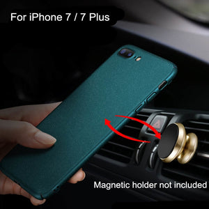 For iPhone 7 Case Matte Original AIXUAN Adorption Metal Plastic Magnetic Car Holder Cover For iPhone 8 7 8 Plus Full Protective