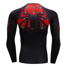 2018 Fitness Compression Shirt Men Anime Bodybuilding Long Sleeve Crossfit 3D Superman Punisher Batman T Shirt Tops Tees