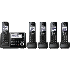 "Panasonic KX-TGF345B DECT 6.0 1.9 GHz Digital Cordless Phone (5 Handsets) (""PANKXTGF345B"")"