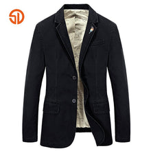 Brand Suits Jackets Men Spring Autumn Fashion Cotton Washed Formal Office Men Blazer Masculino Costume Homme Plus Size S-4XL