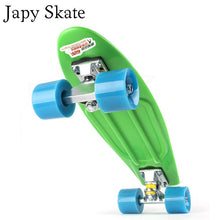 Japy Skate 22 Inches Four-wheel Street Long Skate Board Mini Cruiser Fish Skateboard With 9 Colors For Adult Children