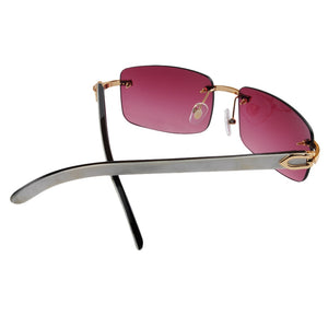 LONSY Original Buffalo Horn High Quality Sunglasses with high transmittace CR39 Lens