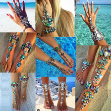 Best lady  2016 Australia Beach Vacation Ankle Bracelet Sandals Sexy Leg Chain Female Boho Crystal Anklet Statement Jewelry 3119