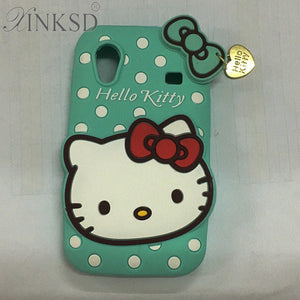 For Samsung Galaxy Ace S5830 Cases 3D Silicon Hello Kitty Soft Cell Phone Back Cover for Samsung Galaxy Ace S5830 GT 5830 S5830i