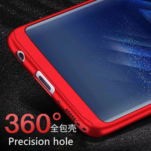 EMIUP 360 Degree Phone Case for Samsung S6 S7 Edge S8 Plus Case With Glass Shockproof Cover for Samsung Galaxy J3 J5 2016 Case