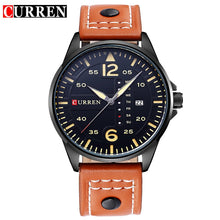 CURREN Brand Mens Watches Vintage Relogio Sports Time Module Quartz Watches Luminous Hands Date Day Watch Military Army Leather