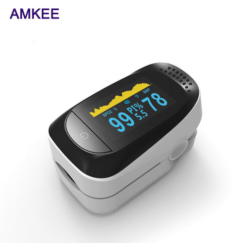 AMKEE New Update Digital Finger Pulse Oximeter Blood Oxygen Finger SPO2 PR PI Alarm Oximetro Health Care 8 Hour Sleep Monitor