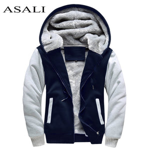 ASALI Bomber Jacket Men 2018 New Brand Winter Thick Warm Fleece Zipper Coat for Mens SportWear Tracksuit Male European Hoodies