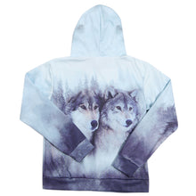 Alisister Zipper Hoodie 3d Wolf Sweatshirt Jacket Men's Casual High Fashion Autumn Outwear Unisex Tracksuit With Pocket Dropship