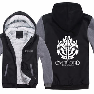 Anime Overlord Hoodies Jacket Winter Men Casual Thick Fleece Pullover Man Cartoon Coat Overlord Sweatshirts