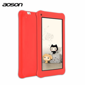 Aoson M753 ChildrenTablet PC 7 inch 16GB/1GB Android 7.1 Kids Learning Tablets WIFI with Parental Control Software Silicone Case
