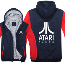 Atari Hoodies Jacket Winter Men Casual Wool Liner Fleece Atari Video Game Sweatshirts Pullover Man Coat 1