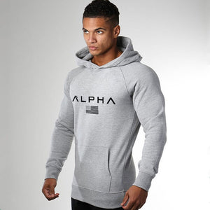 Autumn New Mens Print Hoodies Casual Fashion Cotton Sweatshirt Gyms Fitness Workout Hooded Jacket Tops Male Sportswear Clothing