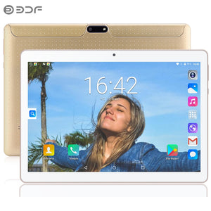 BDF New 10 inch Original 100% 3G Phone Call Android7.0 Quad Core IPS LCD Tablet WiFi 4G+32G  Free Shipping BDF Official Phablet