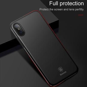 Baseus Luxury Wireless Charger Case For iPhone X 10 Ultra Thin Slim Back Cover Case For Apple iPhoneX Capinhas PC Coque Fundas