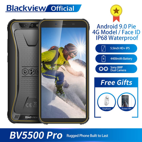 Blackview BV5500 pro IP68 Waterproof 4G Mobile Phone 3GB+16GB 5.5