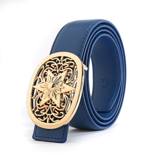 Blue Punk Designer Luxury Brand Belts for Mens Genuine Leather Male Women Jeans Vintage High Quality Strap Waistband Hip Hop