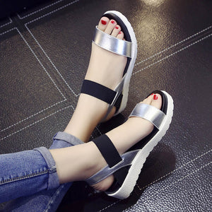 Bomlight 2017 New Gladiator Women shoes Roman sandals shoes Women sandals peep-toe flat Shoes woman sandalias mujer sandalias