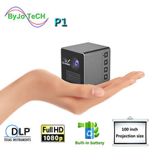 ByJoTeCH P1 Mobile Projector P1 P1+H Pocket Home Movie Projector Proyector Beamer Battery Mini DLP projector mini led projector