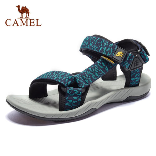 CAMEL Men's Sandal New Wading Men Shoes Lightweight Breathable Non-slip Outdoor Sandals Beach Shoes Rebound Cushioning