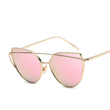 CANCHANGE Fashion Cat Eye glasses Women Cat Eye glasses Anti-Reflective Lens Rose Gold Mirror Lady Glasses Women